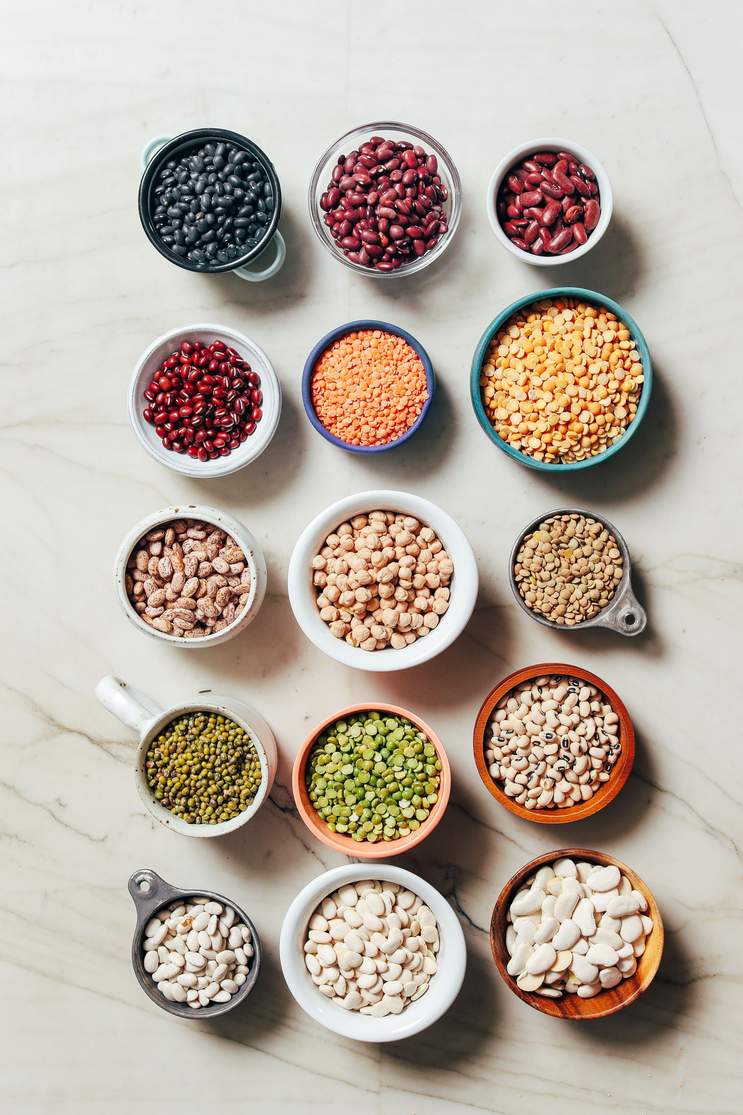 Assortment of beans for cooking in the Instant Pot