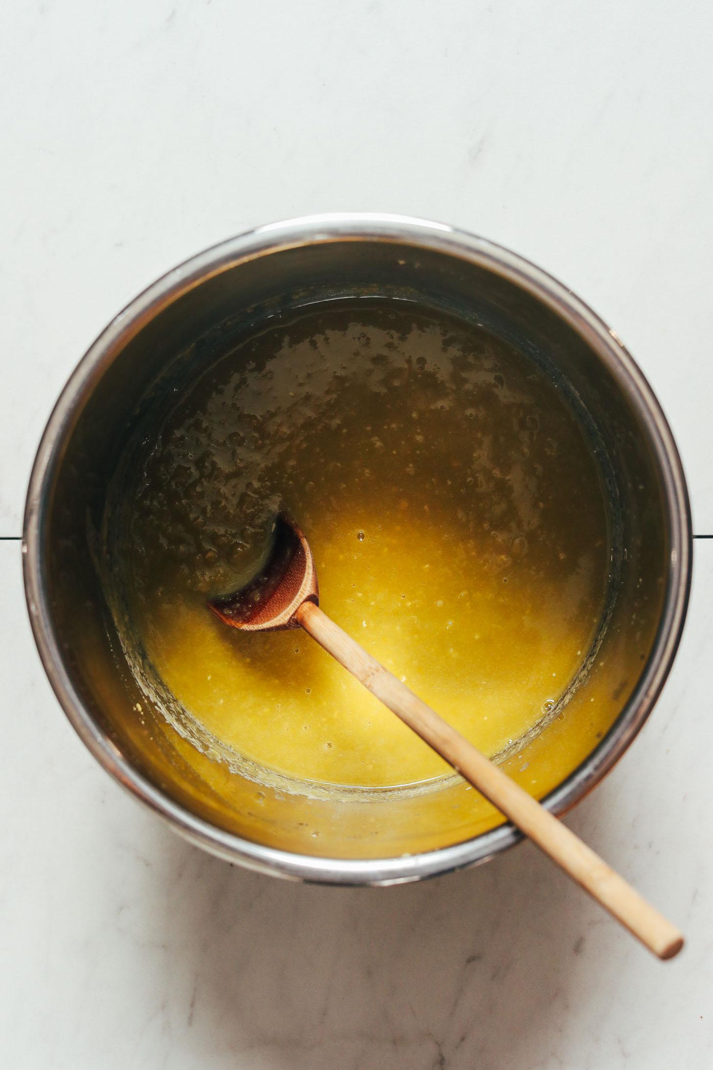 Instant Pot of cooked split peas