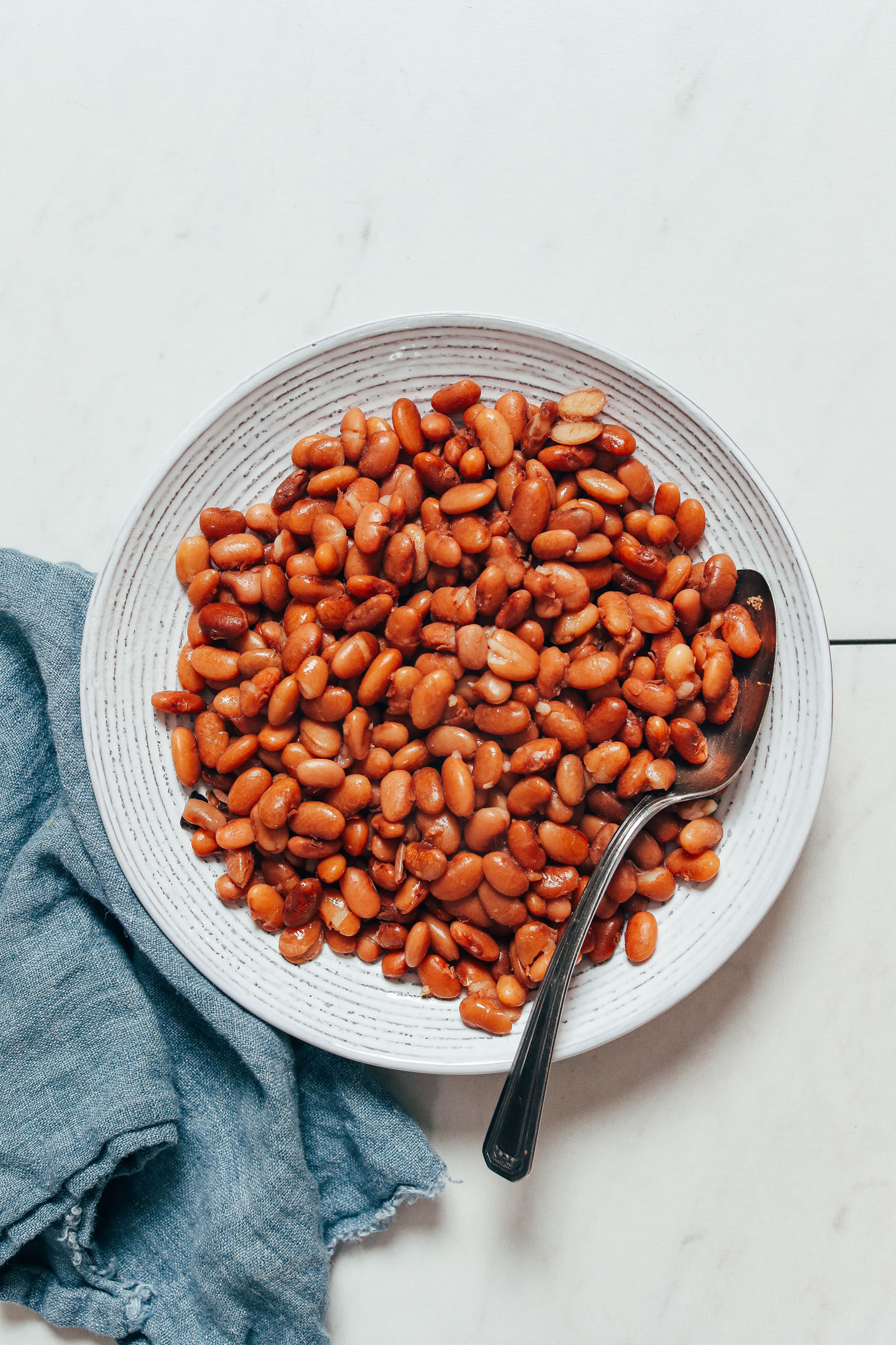 Bowl of perfect Instant Pot pinto beans
