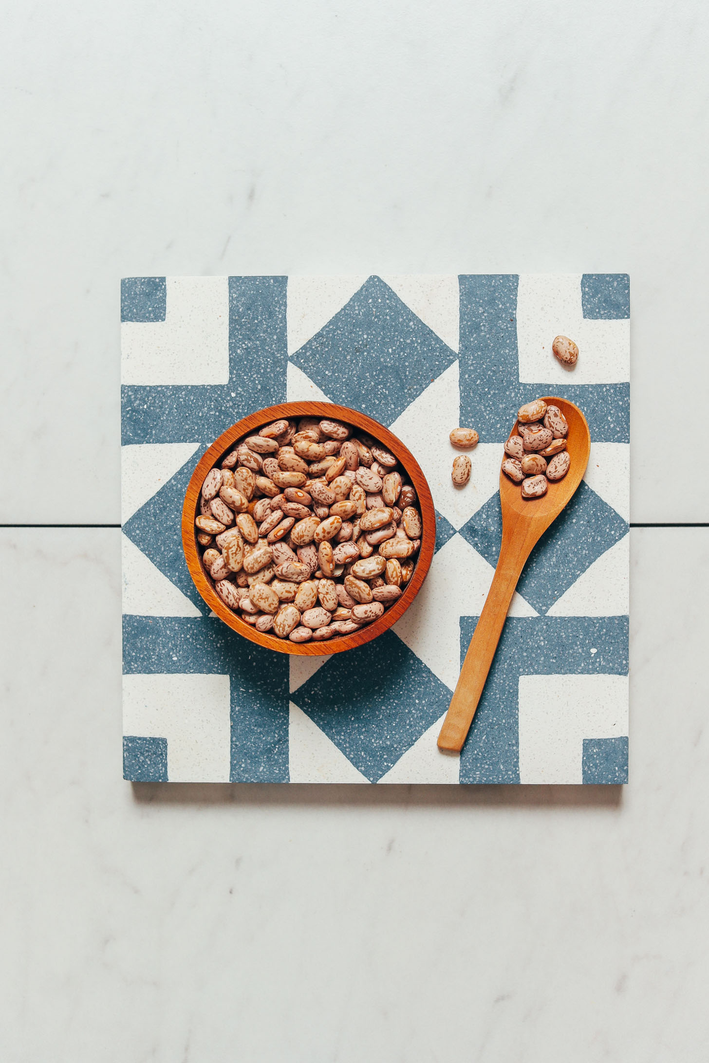 Spoon and bowl of Instant Pot pinto beans