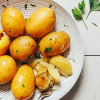 Bowl of Instant Pot gold potatoes