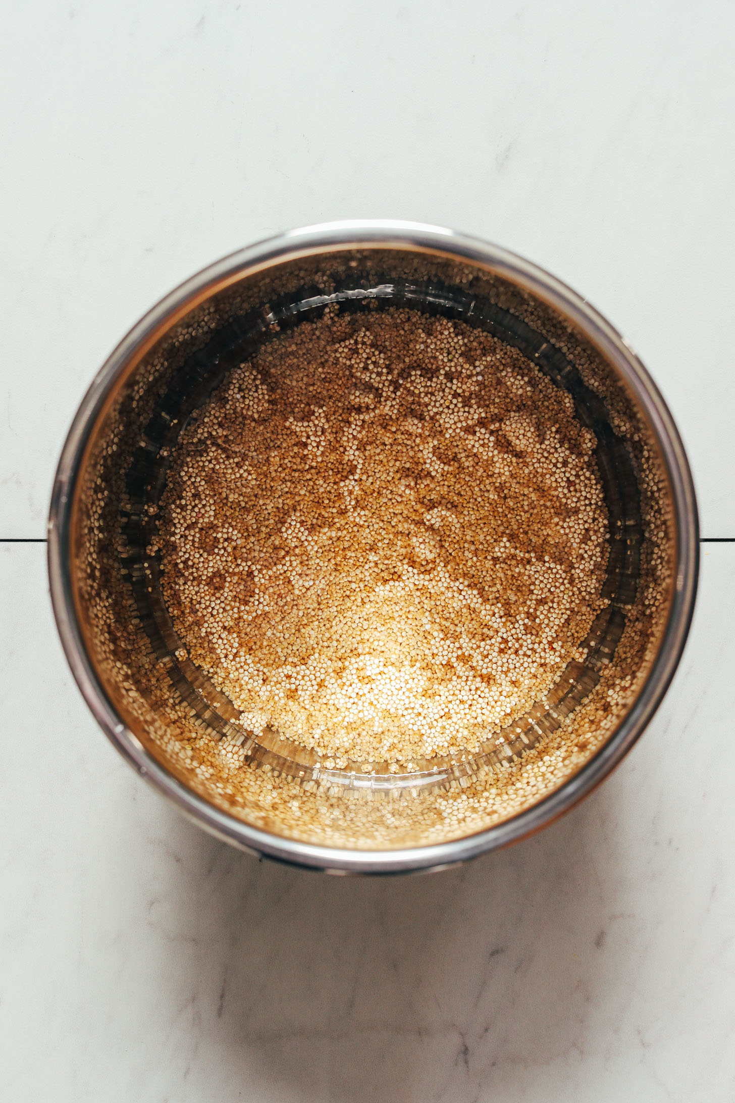 Quinoa and water in an Instant Pot