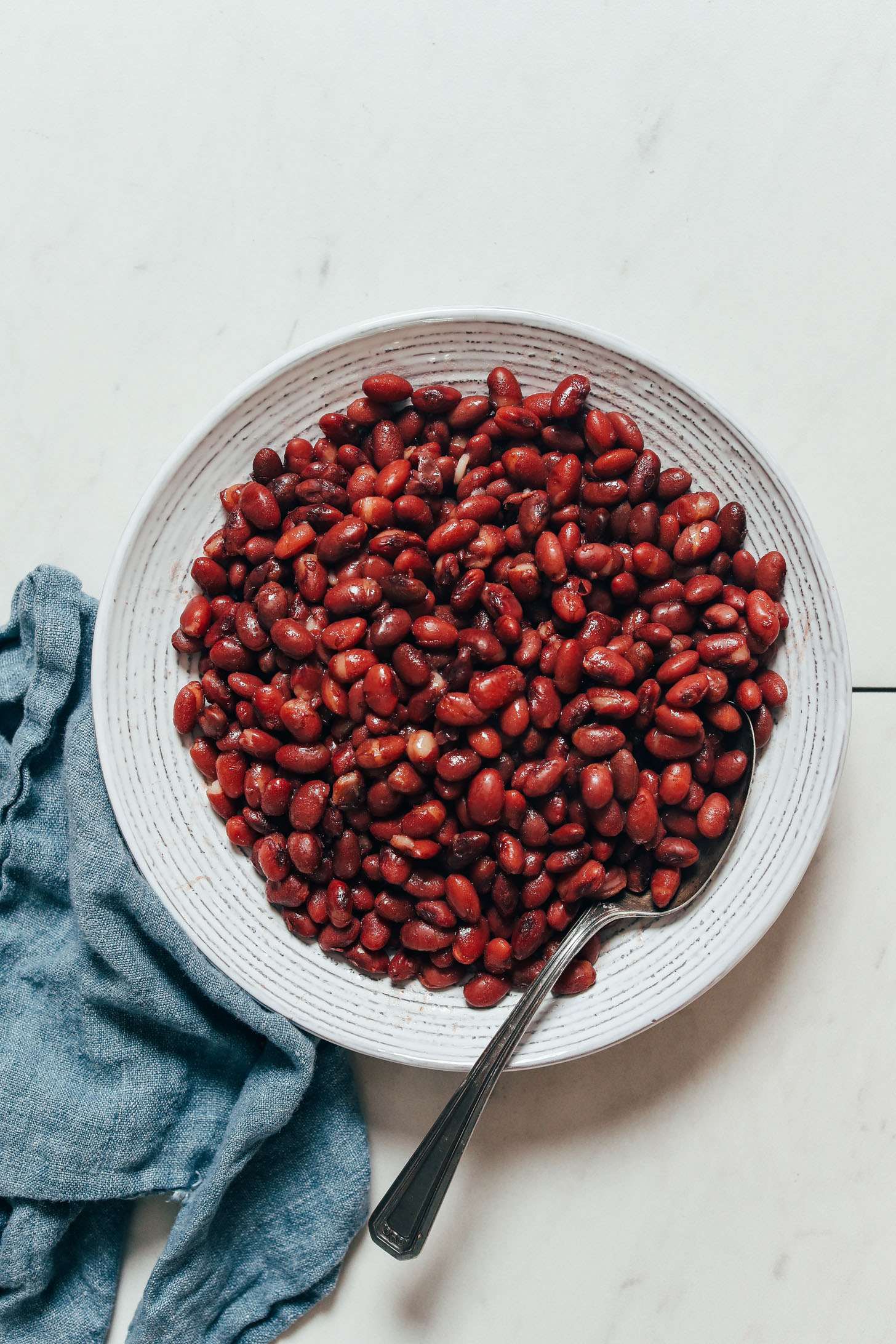 Bowl of small red beans made in the Instant Pot