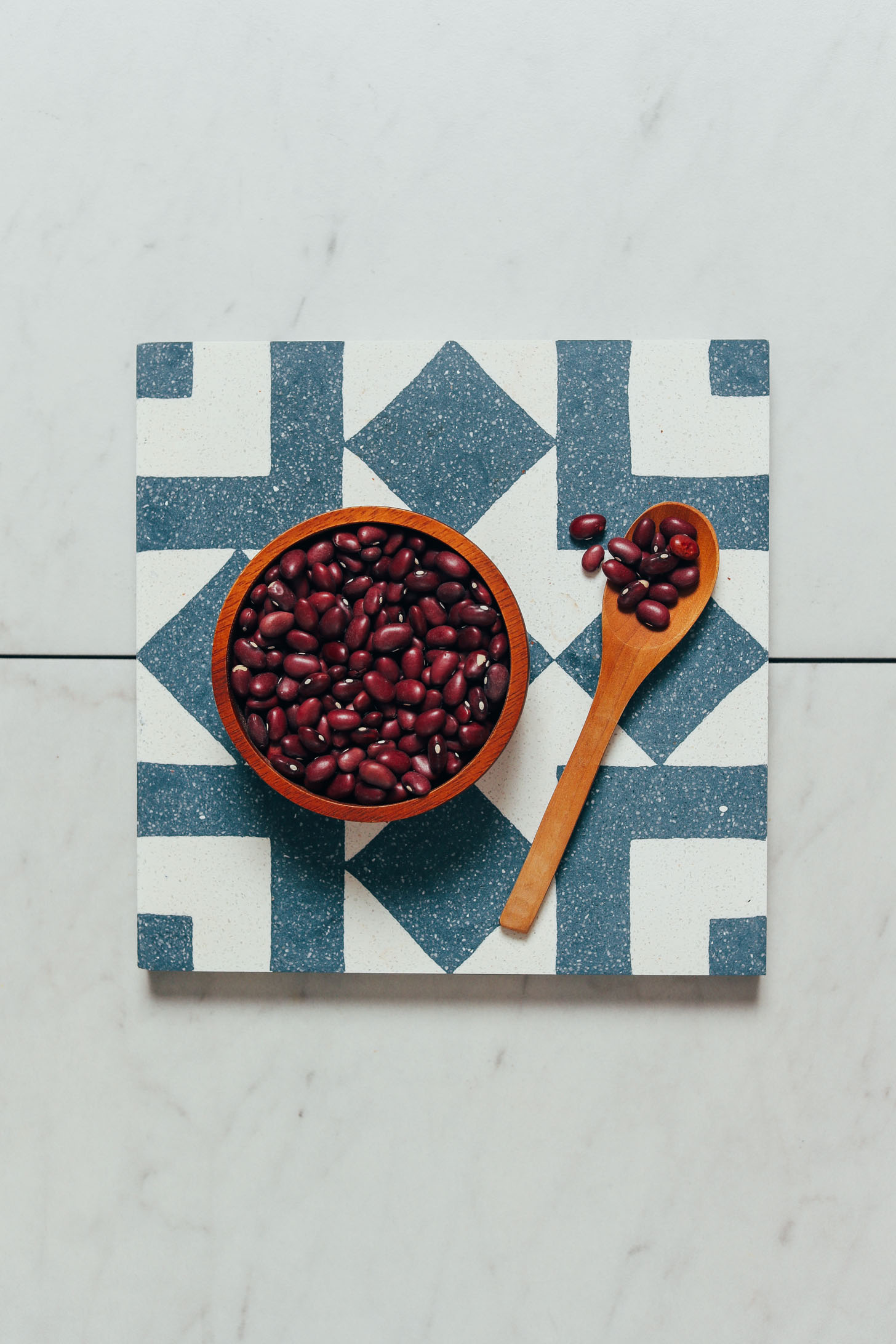 Spoon and bowl of Instant Pot red beans