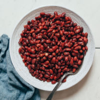 Bowl of Instant Pot red beans