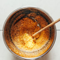 Cooked red lentils in the Instant Pot
