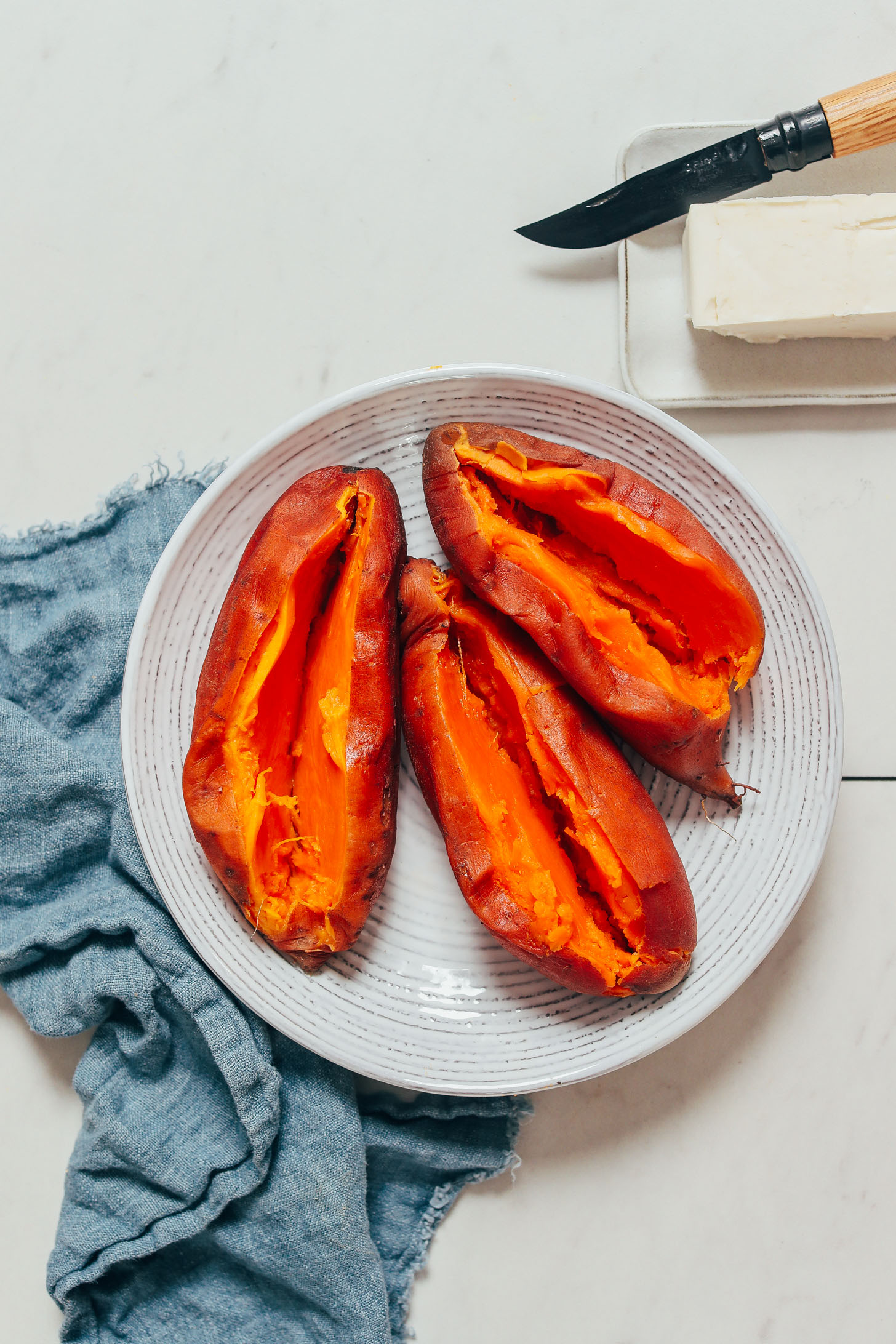 Bowl of cooked sweet potatoes made in the Instant Pot