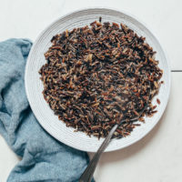 Bowl of perfect wild rice made in the Instant Pot