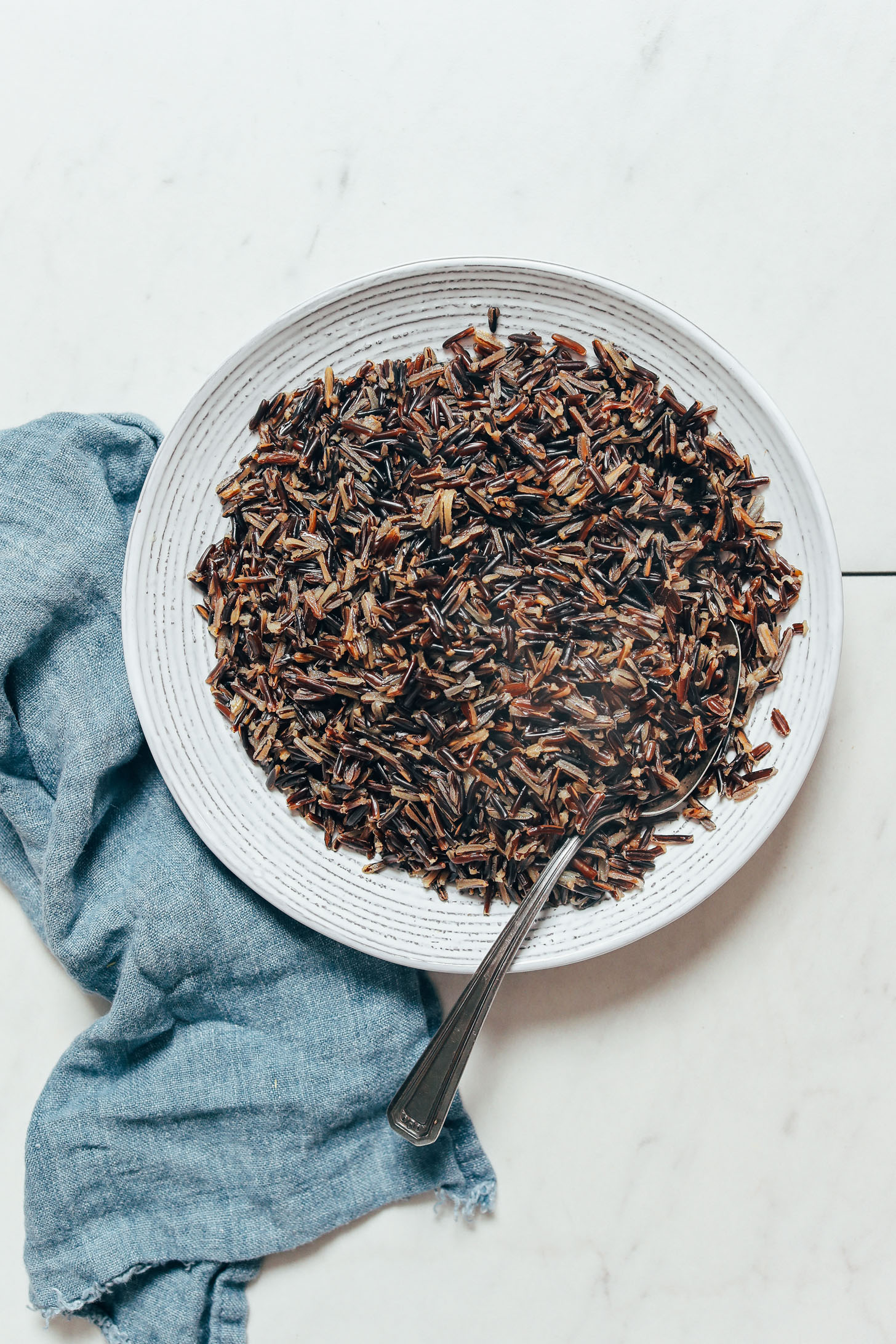 Bowl of Instant Pot wild rice