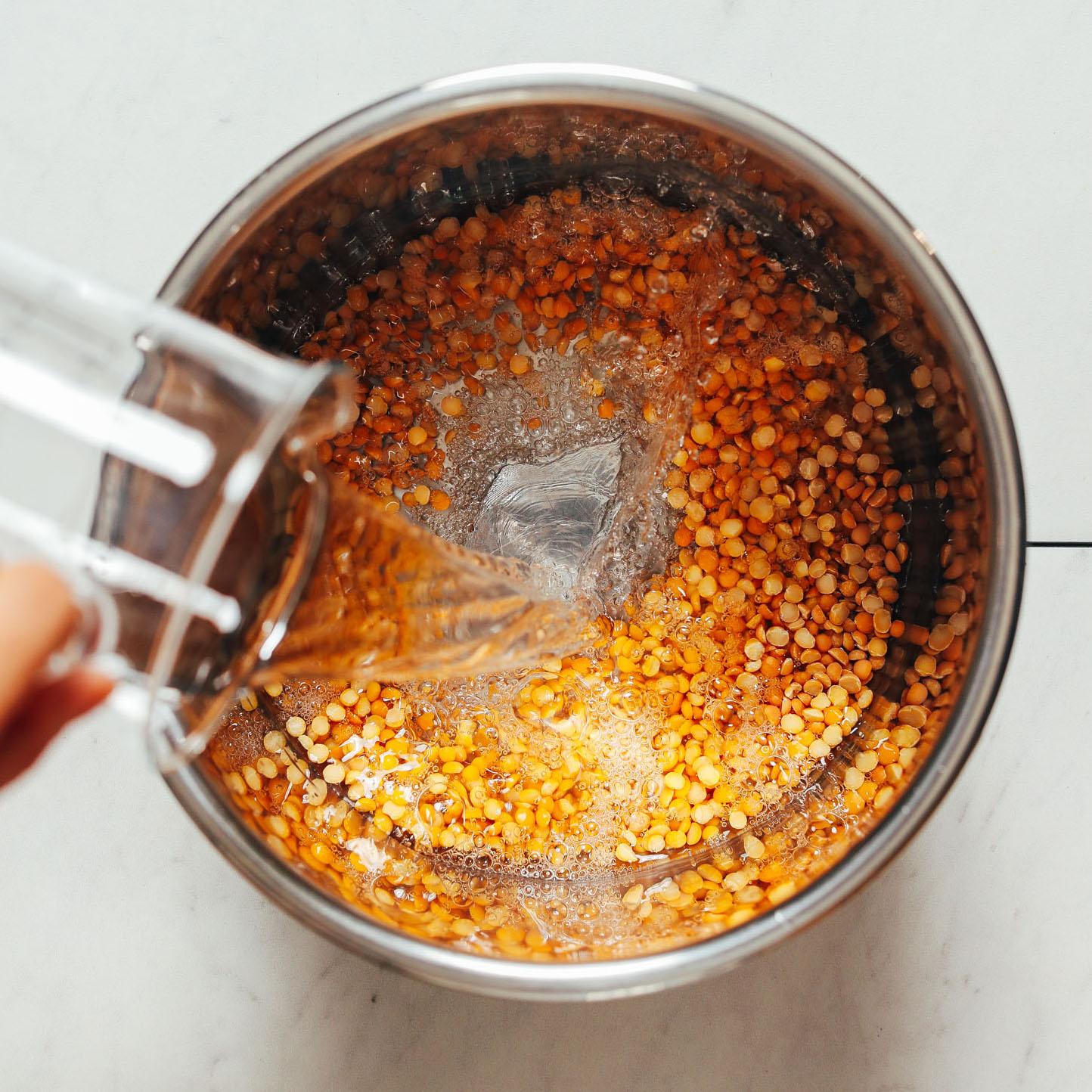 Instant Pot Yellow Split Peas Fast Tender No Soaking Minimalist Baker