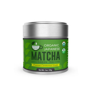 A tin of our favorite brand of matcha for making matcha lattes