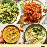 Pumpkin pasta, vegan alfredo, and other dairy-free pasta recipes