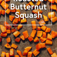 Baking sheet of Roasted Butternut Squash
