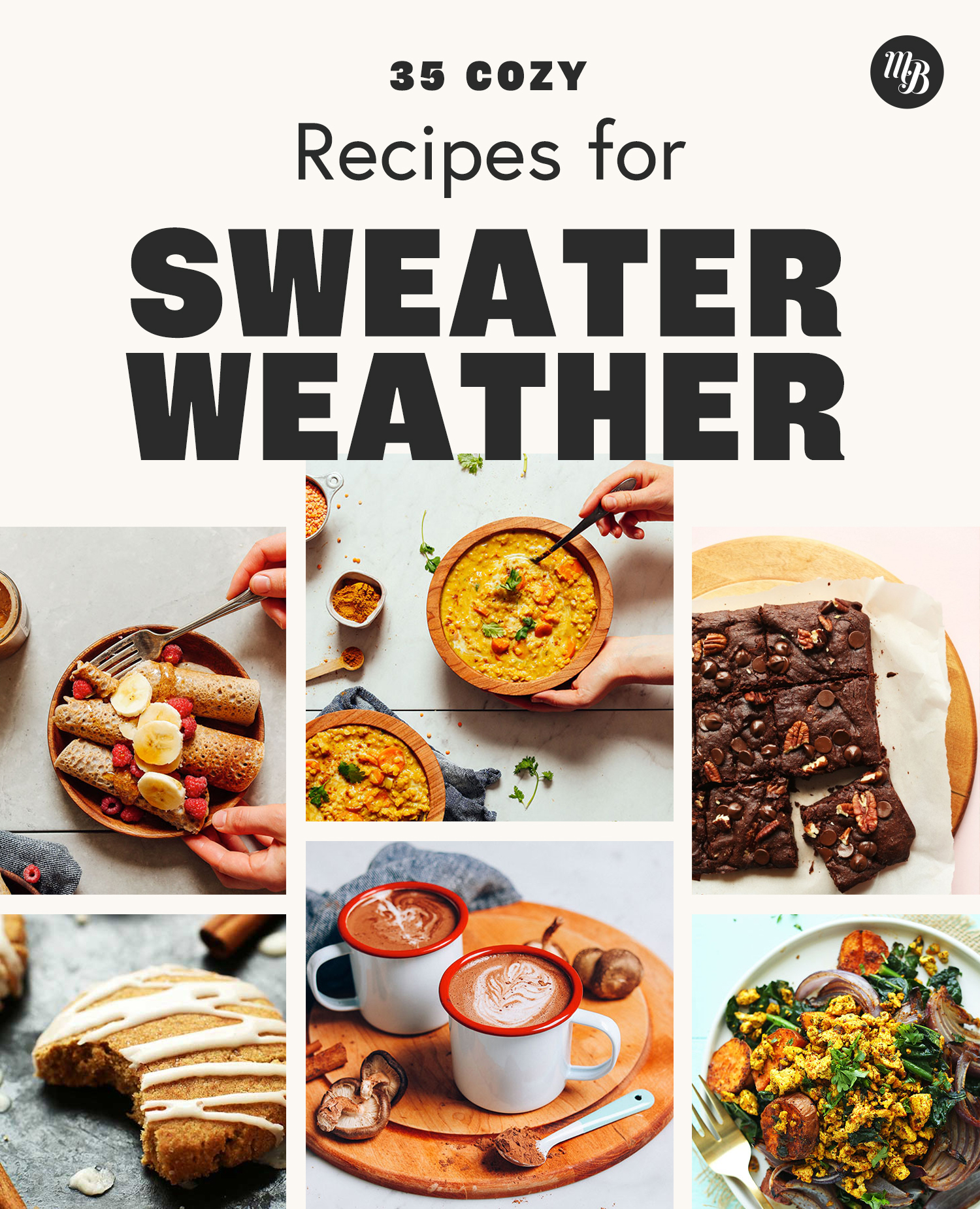 Soup, brownies, hot chocolate, and more plant-based sweater weather recipes