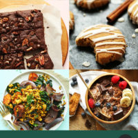 Assortment of recipe photos perfect for cold weather