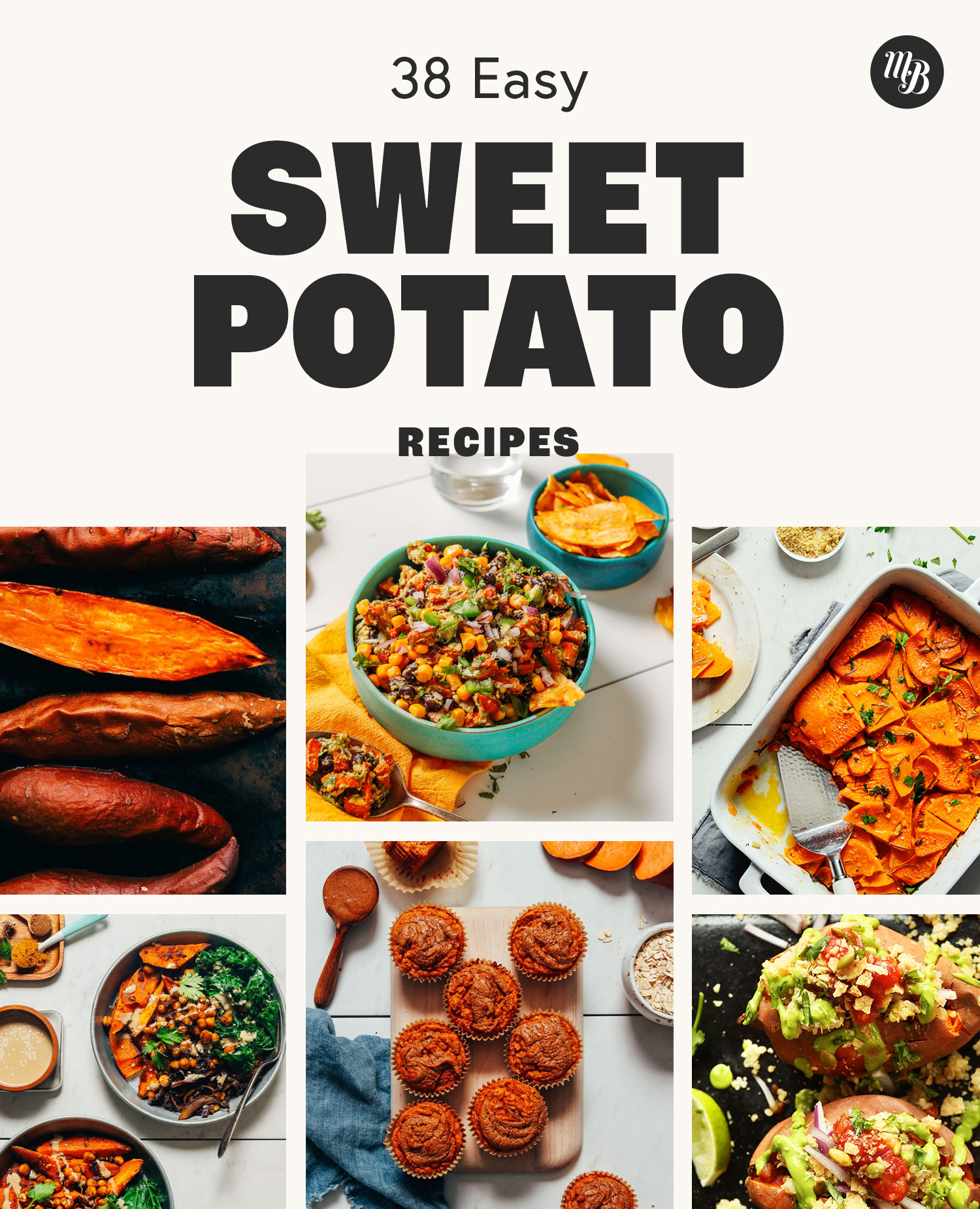 Roasted sweet potatoes, sweet potato dip, and other easy sweet potato recipes