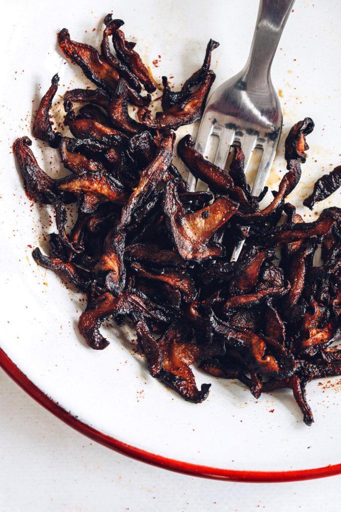 Quick Crispy Shiitake Bacon