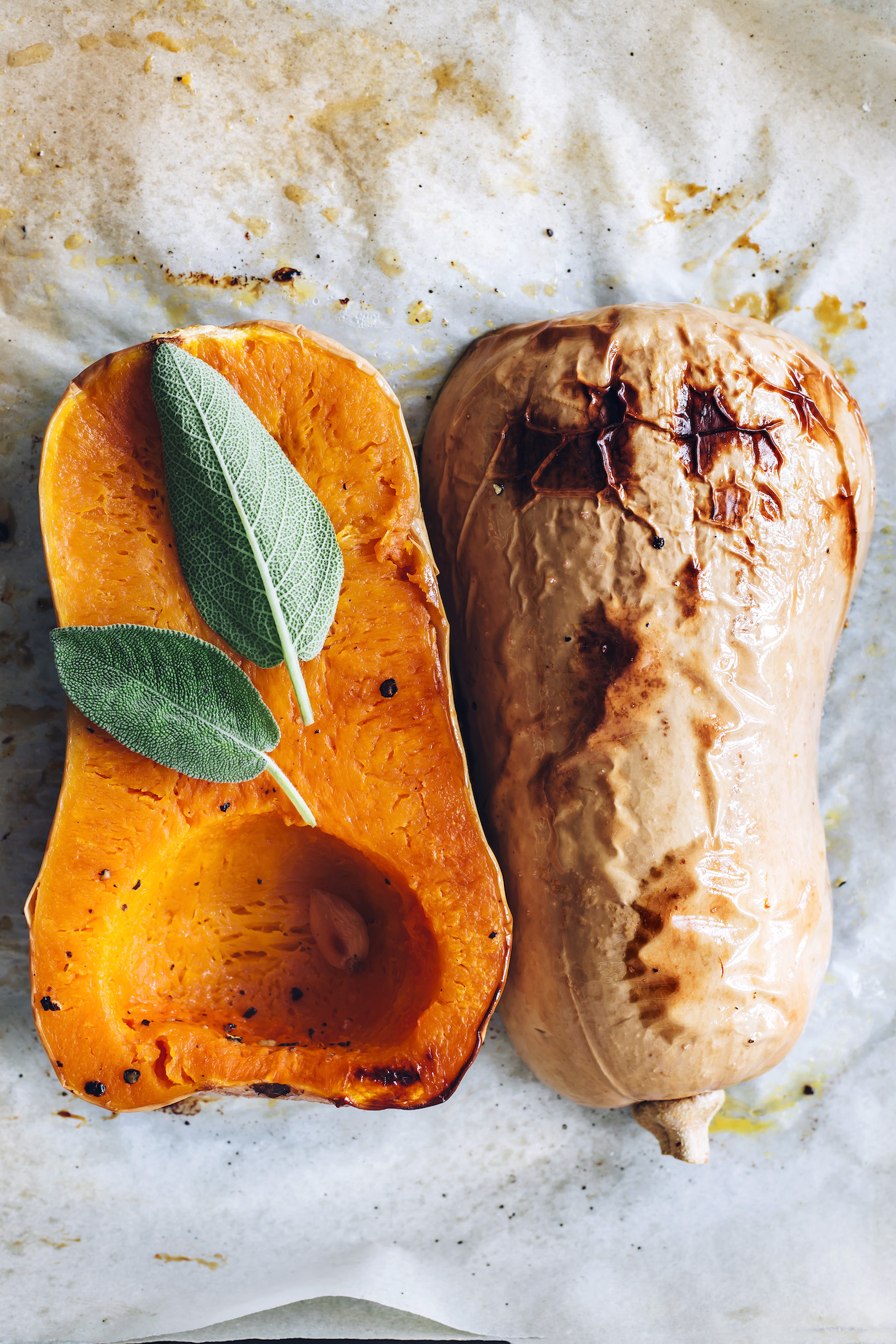 Roasted butternut squash, garlic, and sage
