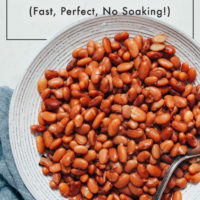 Bowl of perfectly cooked pinto beans