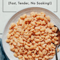 Bowl of tender white beans