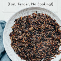 Bowl of wild rice made in the Instant Pot