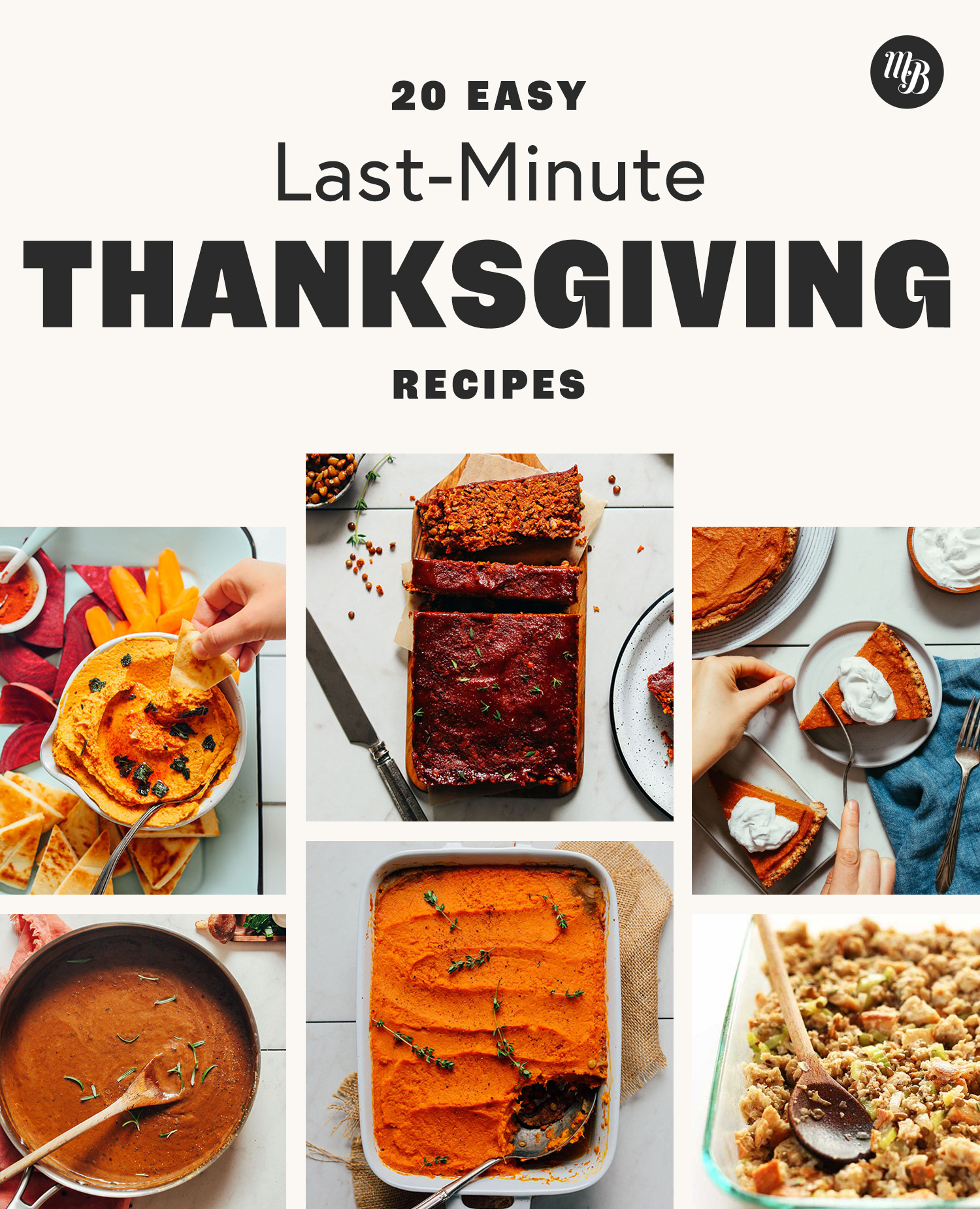 Photos of recipes in our Last-Minute Thanksgiving Recipes round-up