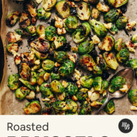 Pan of Balsamic Roasted Brussels Sprouts