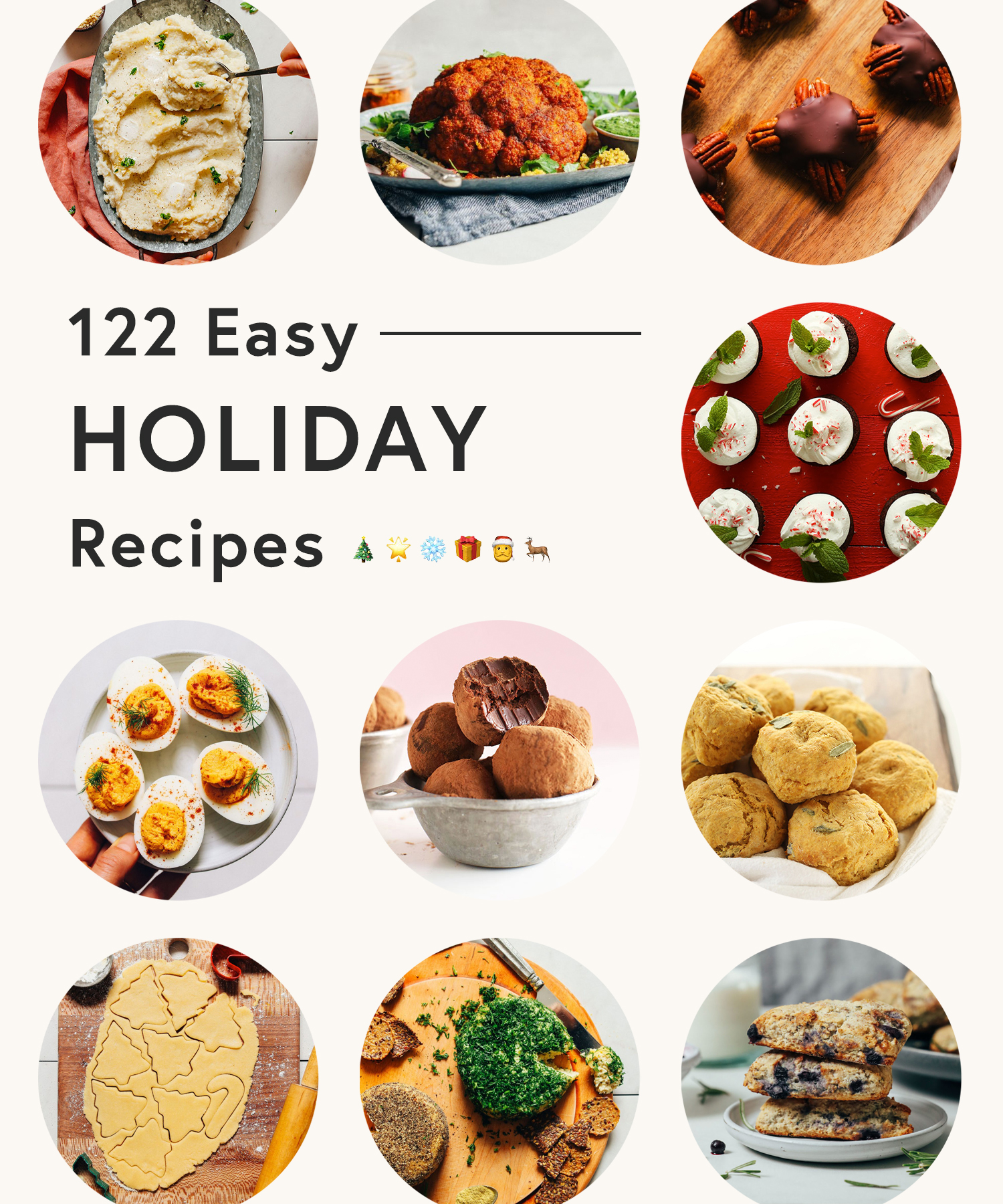 Collection of photos of easy holiday recipes
