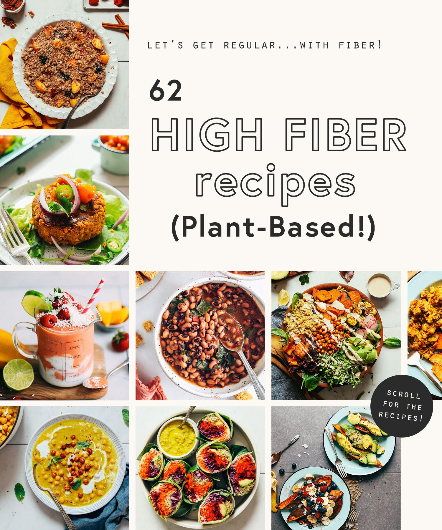 Assortment of high fiber recipes