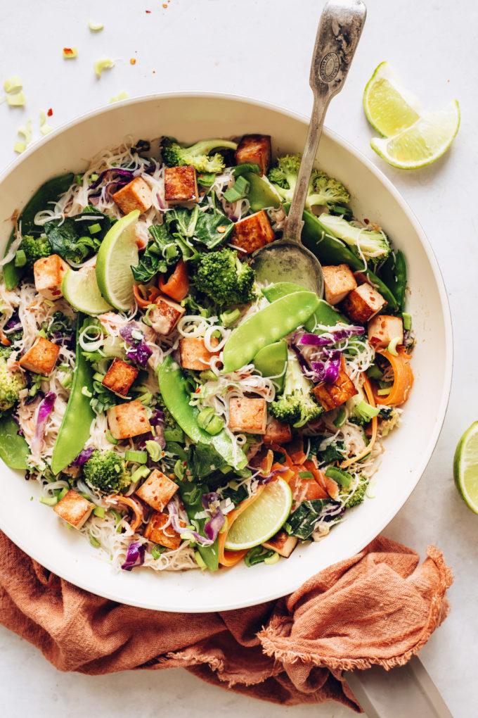 Tofu Noodle Stir-Fry with Spring Vegetables