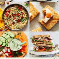 Shortbread, pancakes, pasta, cornbread and other vegan recipes