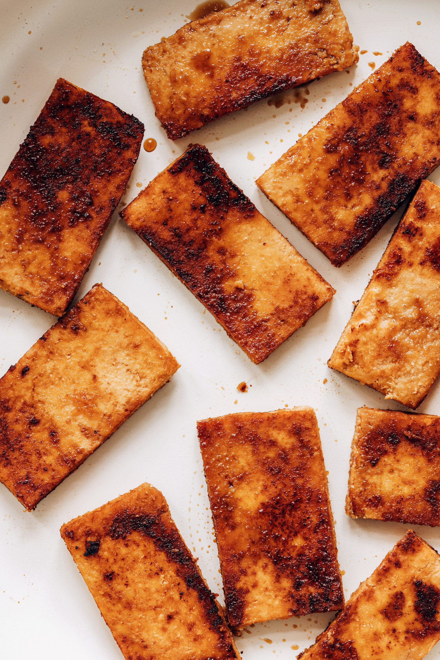Tofu mariné au gingembre parfaitement doré