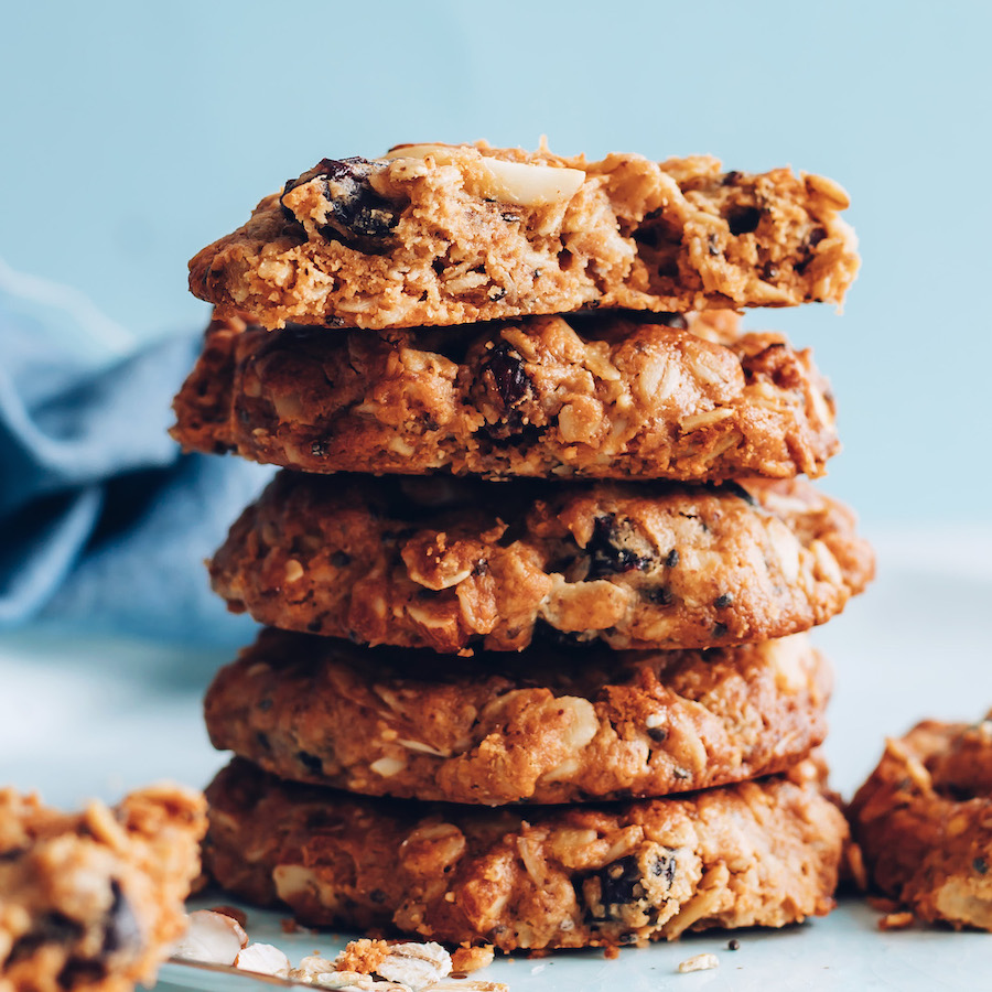 Stack of granola cookies