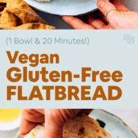 Plates of gluten free flatbread