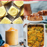 Assortment of plant-based Easter recipes