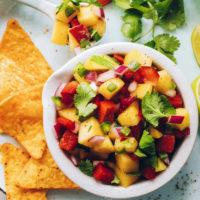 Bowl of our easy mango salsa recipe