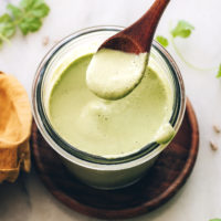 Spoon over a jar of our homemade cilantro dressing