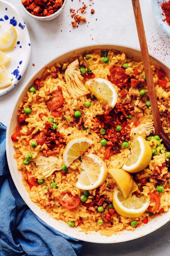 Easy Vegan Paella (1 Pan!)
