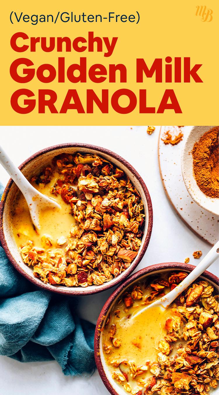 Чаша Vegan Golden Milk Granola с миндальным молоком и специями