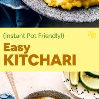 Bowls of Easy Instant-Pot Friendly Vegan Kitchari