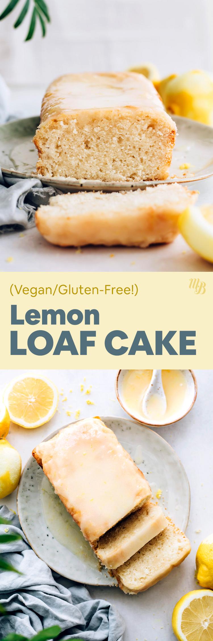 Ломтики веганского и безглютенового лимонного торта на тарелке с лимонной глазурью