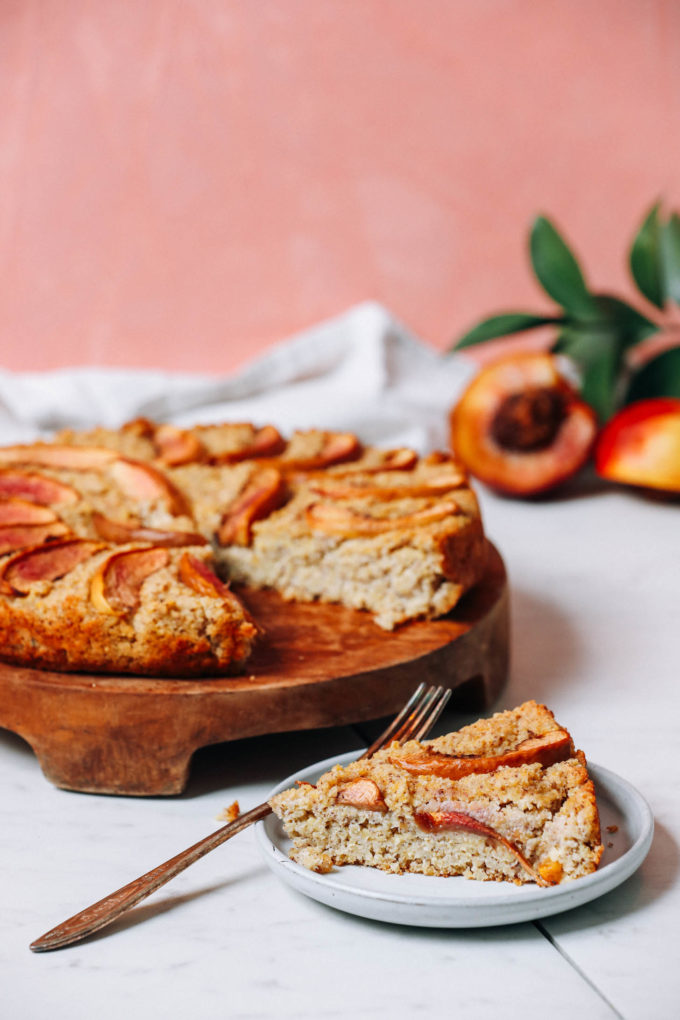 Fluffy Millet Breakfast Cake with Stone Fruit