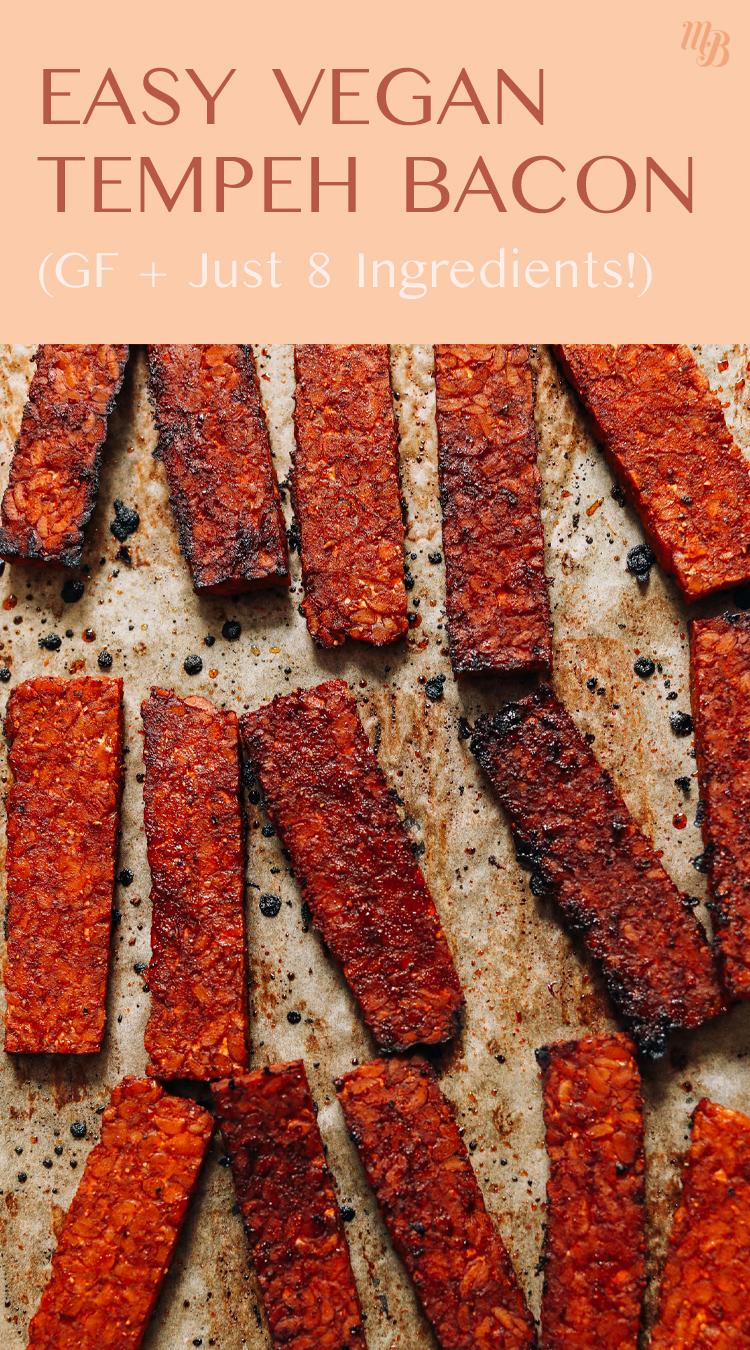 Poêle de bacon au tempeh végétalien facile