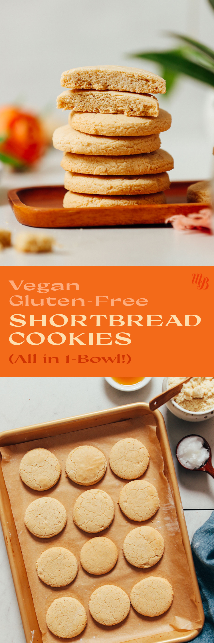 Pan de biscuits sablés vegan et sans gluten