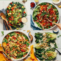 Assortment of hearty plant-based salad photos