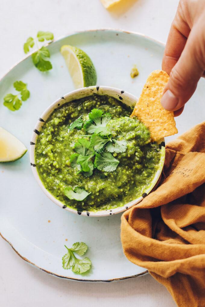 Roasted Salsa Verde (30 Minutes!)