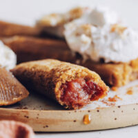 Dessert tamales oozing with delicious apple butter