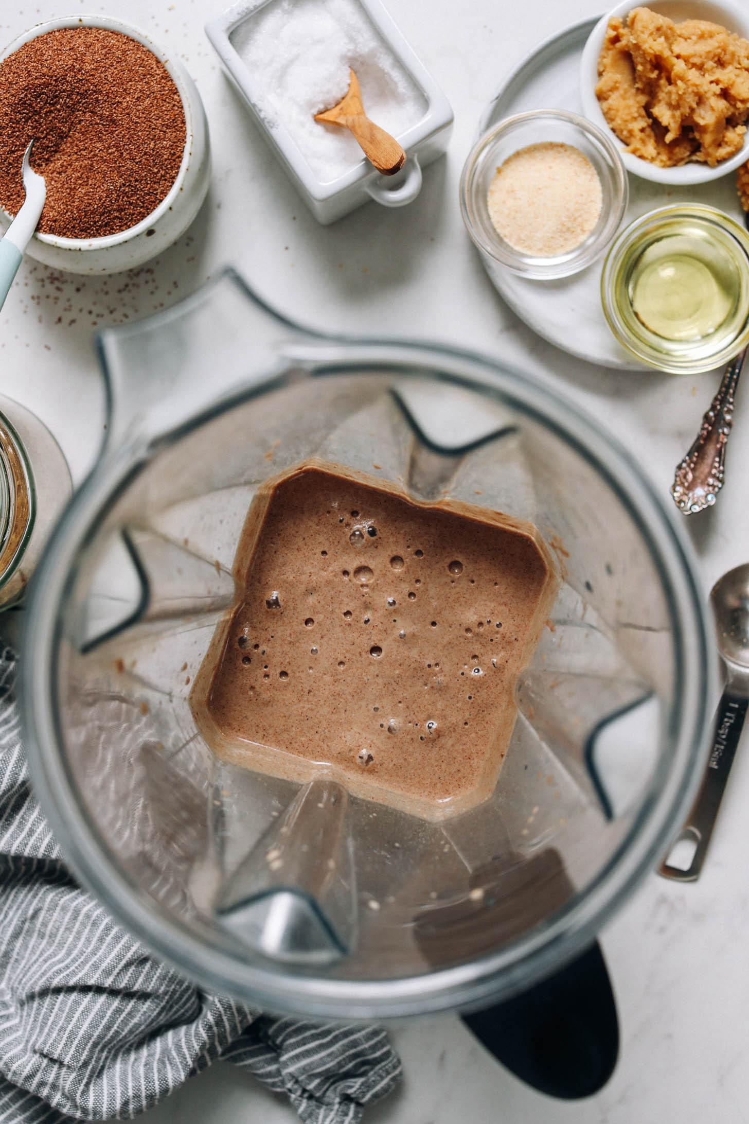 Mélangeur de pâte à crêpes au teff