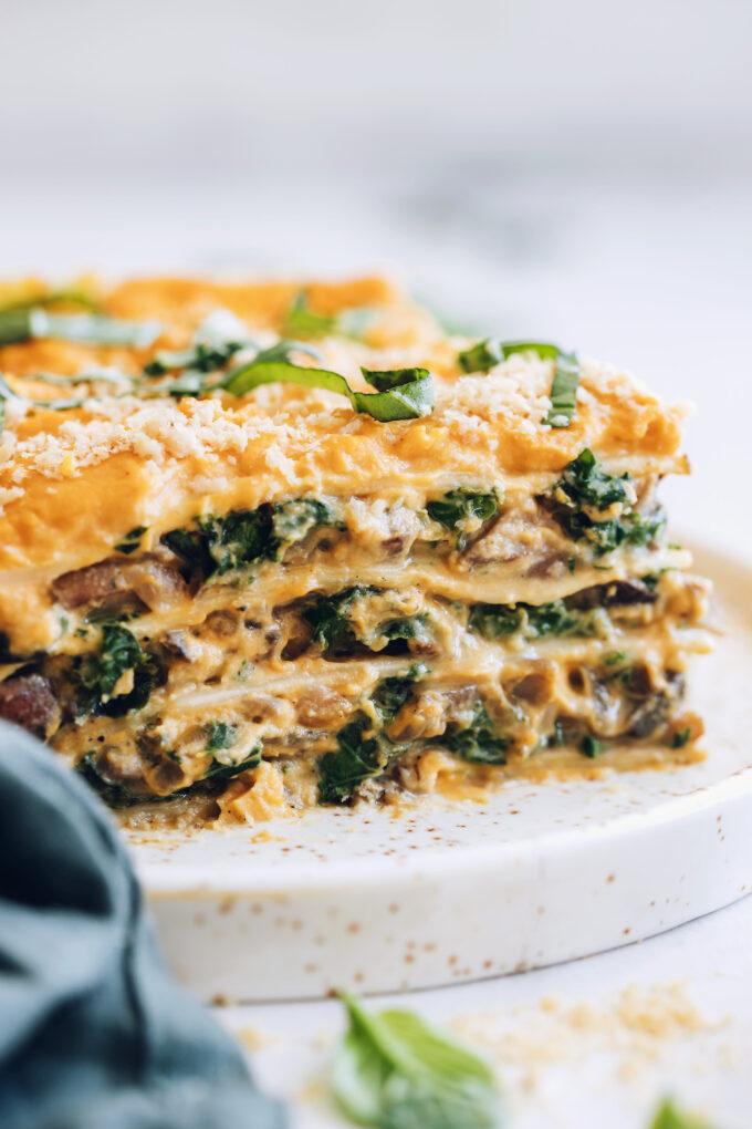 Butternut Squash Lasagna (Vegan, GF Optional)