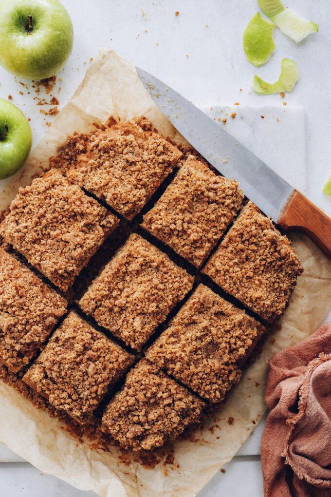 Easy Apple Coffee Cake (GF, Vegan)